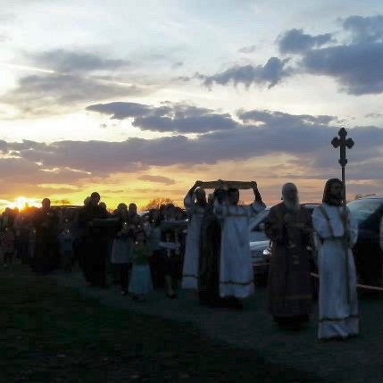 The Holy Friday burial procession.
