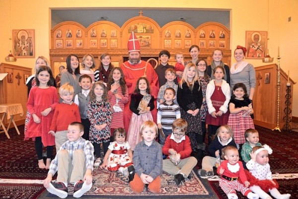 Parish children celebrate St. Nicholas Day.
