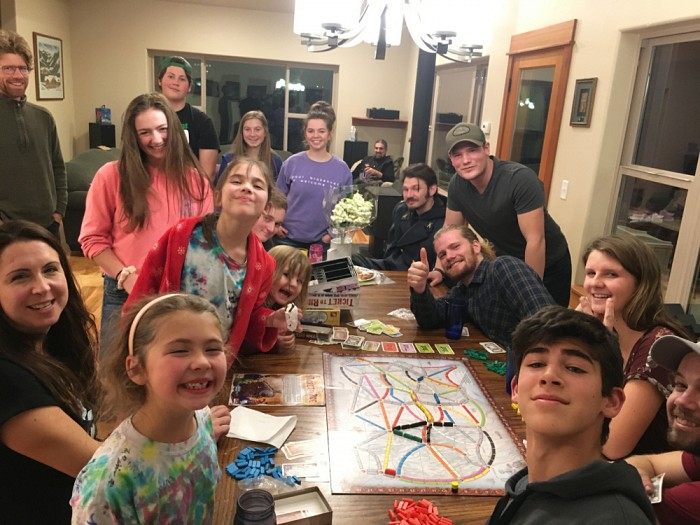Game night with members of the youth and young adult fellowships (and friends).
